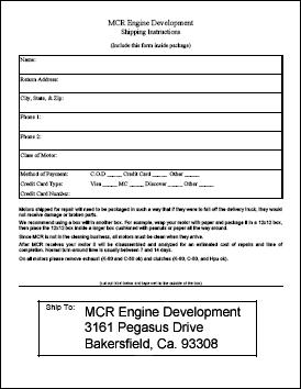 MCR Engine Development - Contact Us